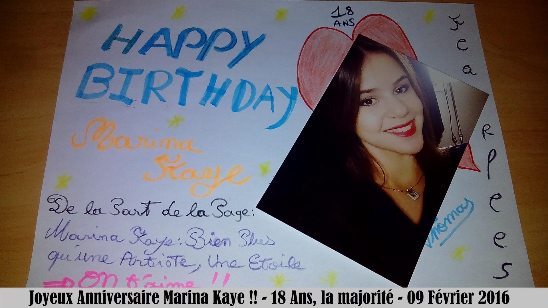 Joyeux Anniversaire Marina 18 Ans